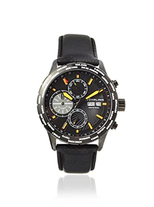 Stuhrling Men's 497.04 Classic Black Stainless Steel Watch