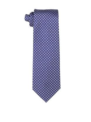 Yves Saint Laurent Men's Double Dot Tie, White/Blue