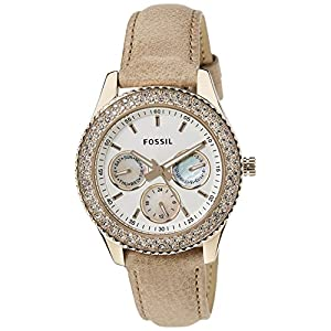 Fossil Stella Analog White Dial Women's Watch - ES3104