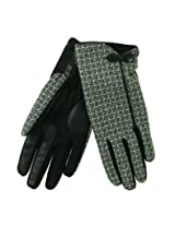 Isotoner Women's SmarTouch Stretch Basket Weave Bow Gloves - Black - M/L