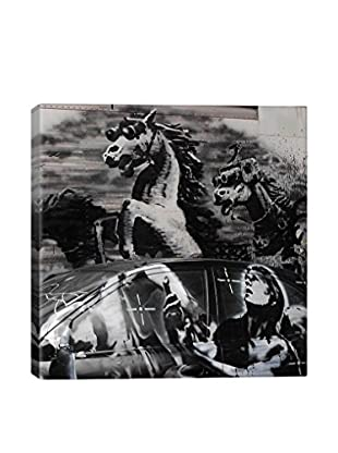 Banksy Crazy Horse Shootout Gallery Wrapped Canvas Print