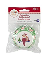 Wilton 415-8551 50 Count Elf on The Shelf Baking Cups