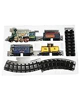AdraxX Green Steam Engine Train Toy With Tracks [Toy]