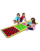 "Melissa & Doug 4-in-1 Game Rug Board Game, Multi Color (78""x26"")"