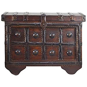 Antique Treasure Wooden Box with Metal Finish