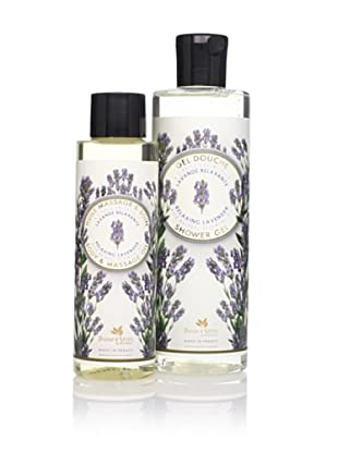 Panier des Sens Relaxing Lavender Shower Gel and Massage Oil, Set of 2
