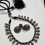 German Silver Drops with Black thread knots