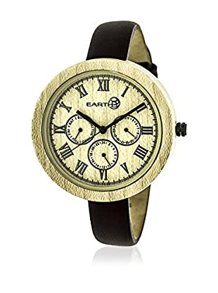 Earth Reloj con movimiento japonés Woman Marrón Oscuro 40 mm