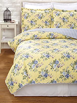 Laura Ashley Linley Quilt Set (Yellow)