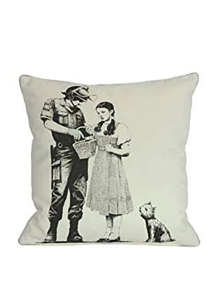Banksy Dorothy and the Police Pillow