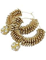 Foppish Mart Ultimate golden desire Hoops/Earrings For Women