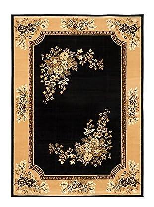 Medallion Rug, Black/Khaki, 7' 7