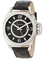 Freelook Freelook Unisex Ha1093-1 Black Croco Leather Band With Silver Case Watch - Ha1093-1