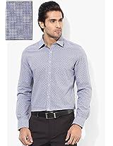 Blue Checked Slim Fit Formal Shirt London Bridge