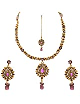 Ashish Handicraft Gold Plated Copper Multi-Strand Necklace Set for Women