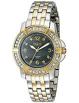 Burgi Women's BUR069TTG Analog Display Swiss Quartz Two Tone Watch