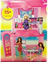 Barbie Ultimate Beach House Party Glam Pool BBQ 25+ Pieces BCG75