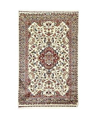 L'Eden del Tappeto Teppich Kashmirian F/Seta beige/grau 148t x t93 cm