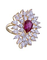 Amazing Jewel Golden Color Silver Ring For Women