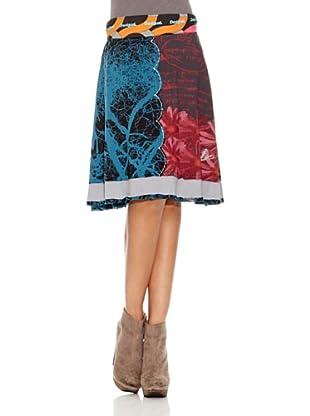 Desigual Falda Sofia (Azul y Rojo)