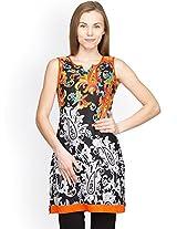 Panit Women's Cotton Kurta (PANI014B_Multicolor_Medium)