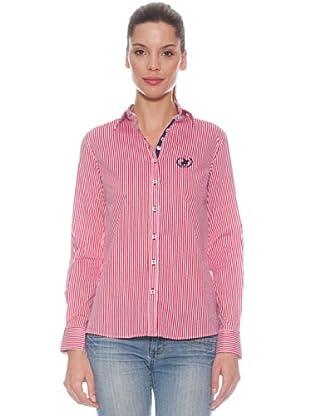Polo Club Camisa entallada raya color (Rojo)