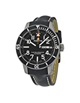 Fortis Offiicial Cosmonauts Automatic Black Dial Black Leather Men's Watch (647.29.41 L01)