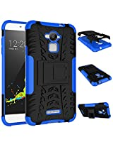 Noise Rugged Dual Layer Kickstand Hybrid Warrior Case Back Cover for Coolpad Dazen Note 3 - Blue