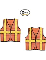 """Darice 16 by 20"""" Dress Up Vest, Construction Worker (2 pack, Construction Worker)"""