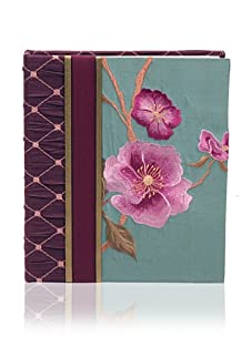 Molly West Turquoise Lily- Photo Album, Purple/Turquoise