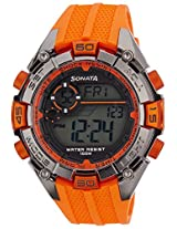Sonata Ocean Series III Digital Multi-Color Dial Men's Watch - 77026PP03J