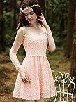OnlyUrs New Fashion Lace Pearl Decorate Dress|35|multicolor
