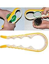 4 In 1 Multi-size Jar Glass Lid Bottle Cap Opener Twist Kitchen Tool