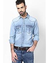 Blue Slim Fit Casual Shirt KILLER