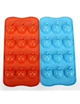 1pc Silicone Ice Cube Trays Apple Shaped Drink Jelly Candy Popsicle Mold(random color)