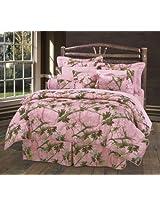 HiEnd Accents Oak Camo Comforter Set, Full, Pink