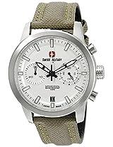 Swiss Military by R Men's 09501 3 A Sniper Analog Display Swiss Quartz Beige Watch