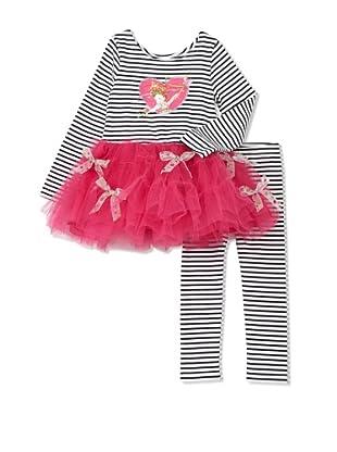 Fancy Nancy Girl's 2-Piece Heart Dancer Set (Black/White/Pink)