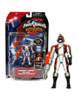 Bandai Year 2006 Power Rangers Operation Overdrive Series 5 1/2 Inch Tall Action Figure Torque Force Black Power Ranger With Robo Mode Helmet And Weapon