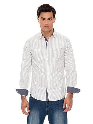 Springfield Camicia Righe (Blu/Bianco)