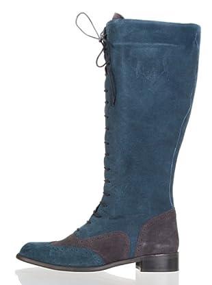 Vilagallo Bota Cordones (Gris / Azul)
