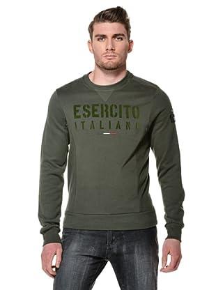 Esercito Italiano Felpa Girocollo (Verde Militare)