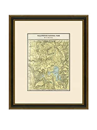 Antique Lithographic Map of Yellowstone National Park, 1883-1903