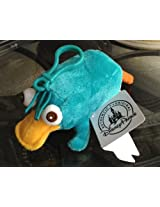 Disney Park Phineas and Ferb Perry the Platypus Plush Doll Purse Hanger NEW