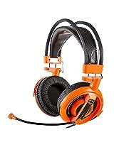 E-Blue Cobra EHS013 Professional Gaming Music Headphone/Headset with Mic (Orange)