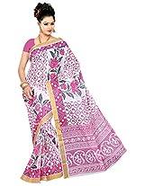 Parichay Women's Kerala Cotton Saree(Pink)
