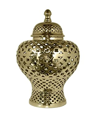 Three Hands Pierced Jar (Gold)