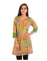 Diva Women's Cotton Regular Fit Kurti (Divakurti_13_40, Multicolor, 40)