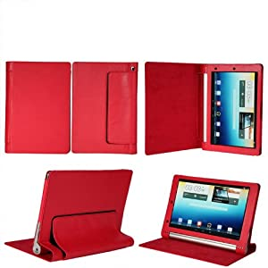 """Flip case cover for Lenovo Yoga 2 Tablet 1050L 10"""" Tab Tablet (Red) (Magnetic Closure) (Auto Sleep/Wake)"""