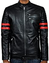 Iftekhar Men's Pure leather Jacket - Black - (Iftekhar03 - XXL)